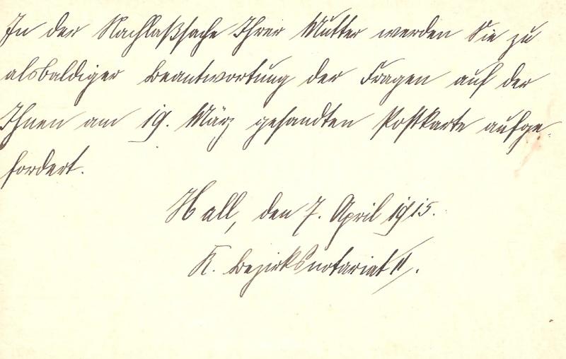 Alte Post aus Württemberg Bmforu27