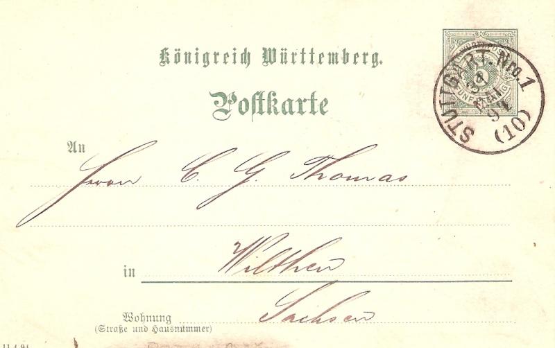 Alte Post aus Württemberg Bmforu28