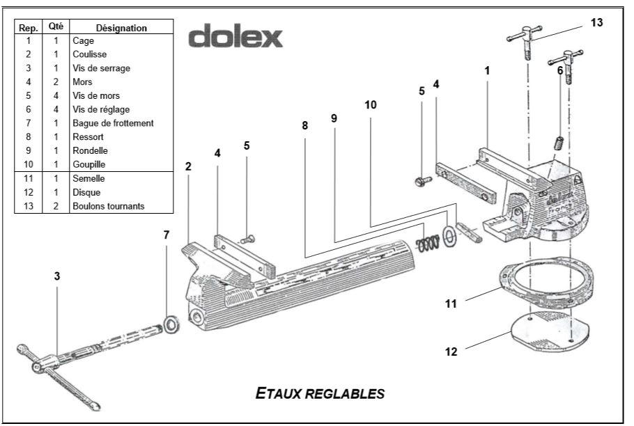 Restauration étau Dolex 57 Zoclat10