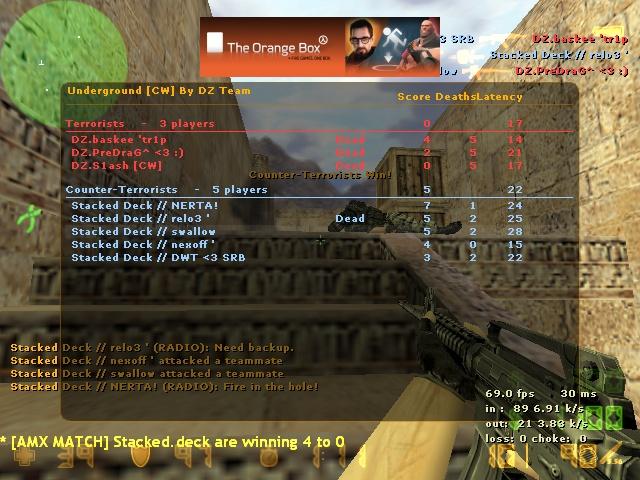 Stacked Deck vs DZ 16:0 [W] Vs_dz110