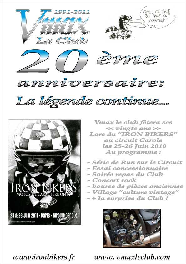 25-26 juin : Vmax Le Club fete ses 20 ans au Circuit Carole. Affich10