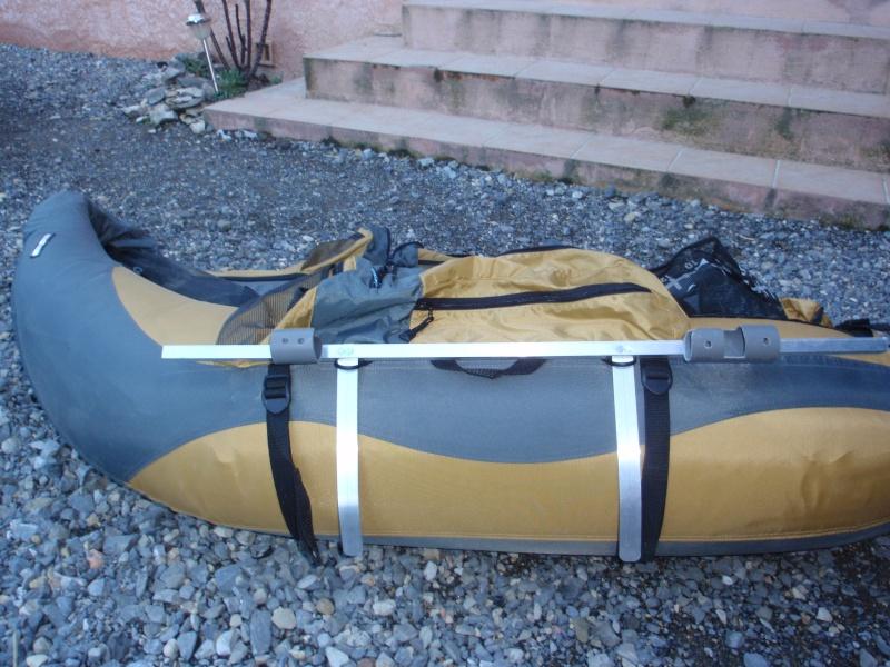 fabrication d'un porte canne pour float tube P3200420