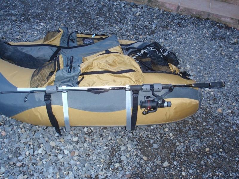 fabrication d'un porte canne pour float tube P3200421