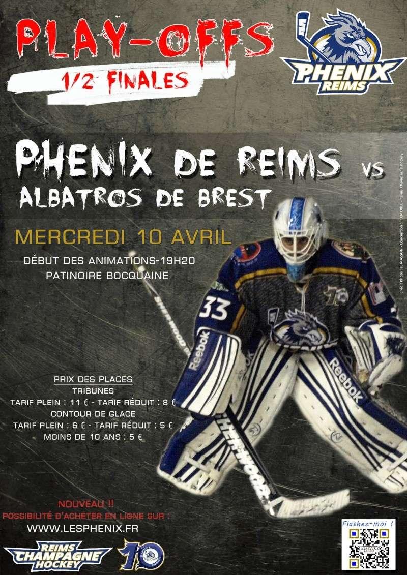 Play Offs Championnat Division 1 : Demi-Finales Match 1 : Reims - Brest du 10/04/2013 Reims_10