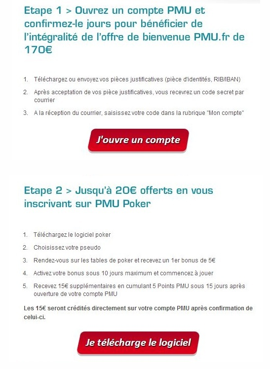 20€ OFFERTS EN VOUS INSCRIVANT PMU POPKER !! 110