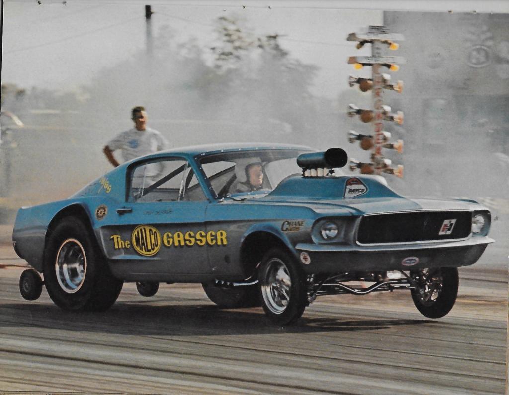 """Ohio George"" Montgomery- 1967 lightweight fiberglass Mustang-The Malco Gasser Ohio_g10"