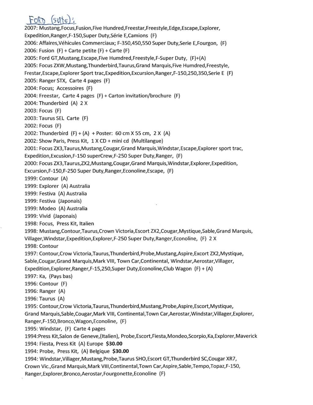 A vendre;Brochures de vente, Shop Manuel / Wiring Diagrams; de concessionnaires 1962 à 2020 Scan-612