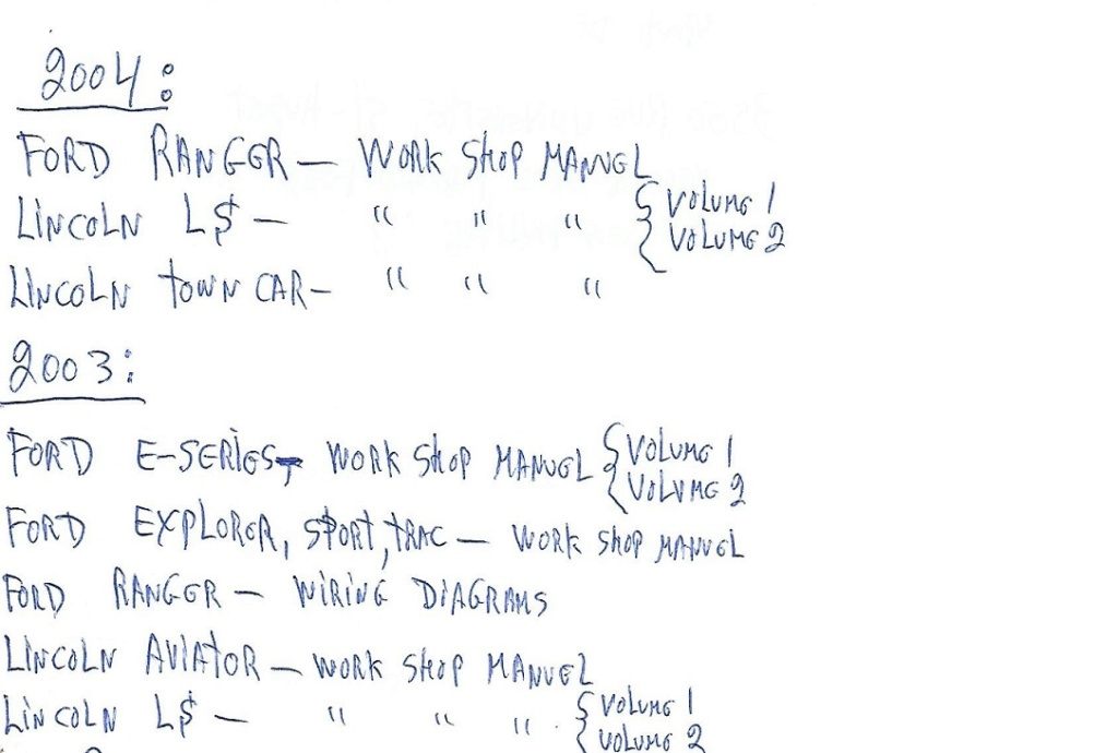 Shop manuel / Wiring diagrams original Ford, Lincoln, Mercury Shop-w32