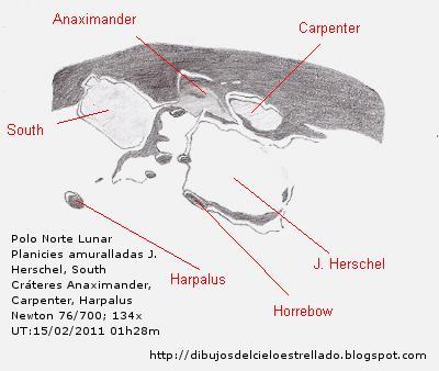 Polo Norte Lunar- Planicie amurallada J. Herschel 15/02/2011 Jhersc11