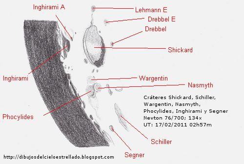 Cráteres Wargentin, Shickard y Schiller. 17/02/2011 Wargen11