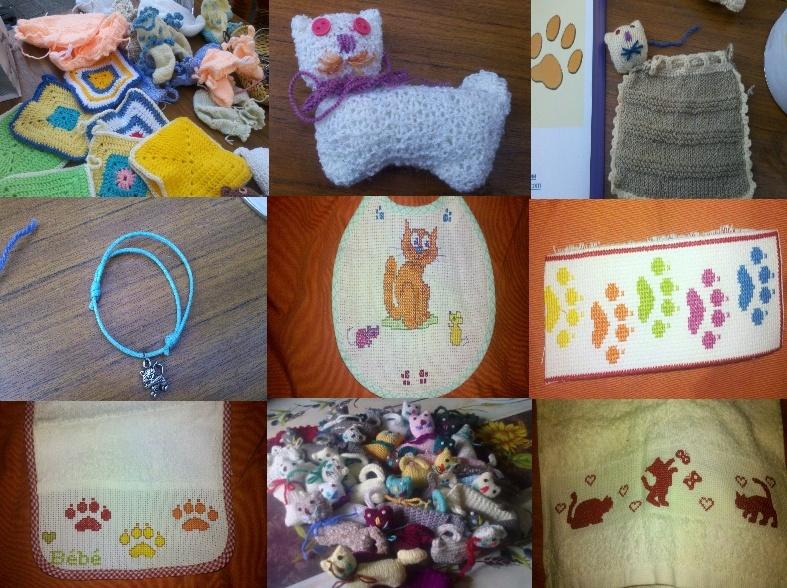 divers objets vendus au profit de l'association Pattounes sans toi(t) A_vend10