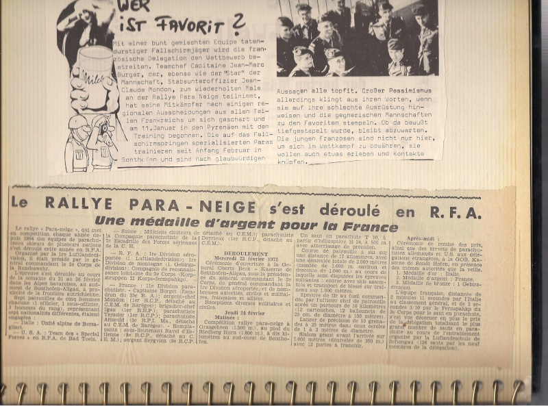 1970 sergent Jean-Claude Mondon Para neige à barrèges et Munick en allemagne Para_n10