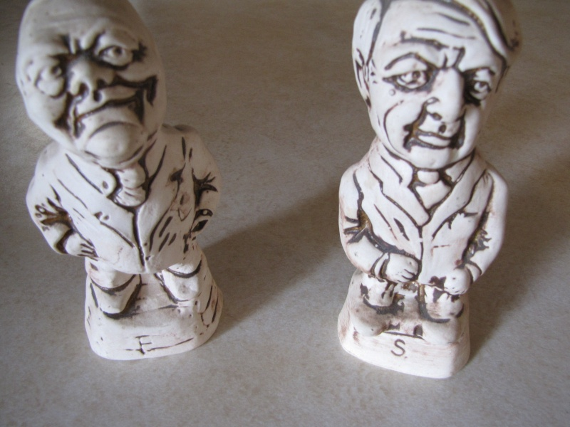 No need to tell you who these guys are, who made them? Muldoon and Rowling salt and peppers by Orzel Crownl14