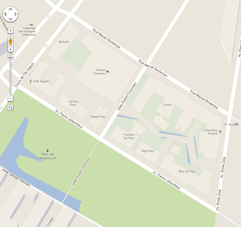 Plan du trapèze / nom des résidences et des rues Google10