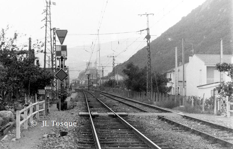 Gare de Foix ancien cliché / Recherche du lieu de  cette photo Foix-e10