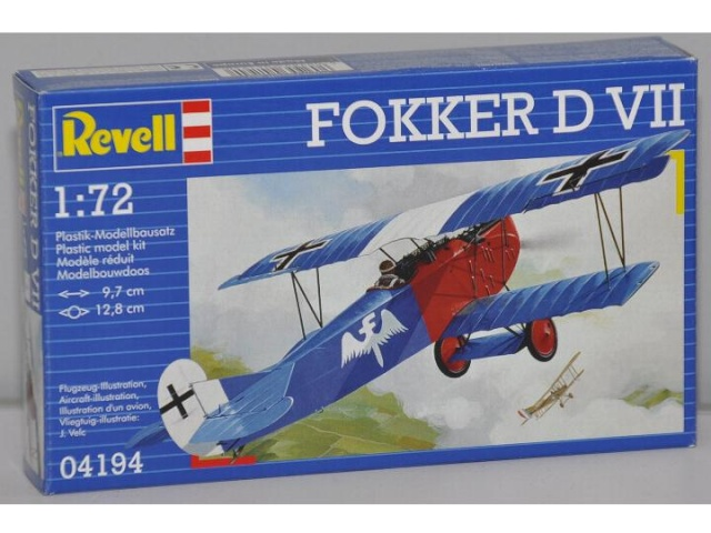 fokker D VII revell 1/72 eme Rudolf Stark Fokker13
