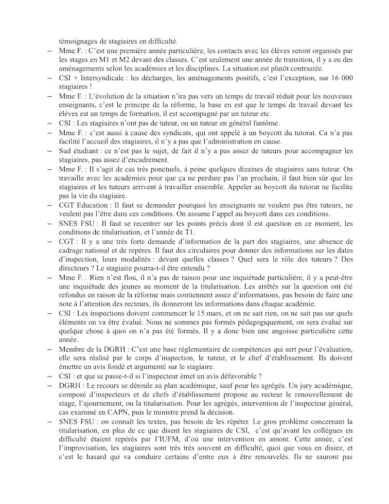 (C.R.) Rencontre 15 février STAGIAIRE IMPOSSIBLE & INTERSYNDCIALE au ministère Rencon11