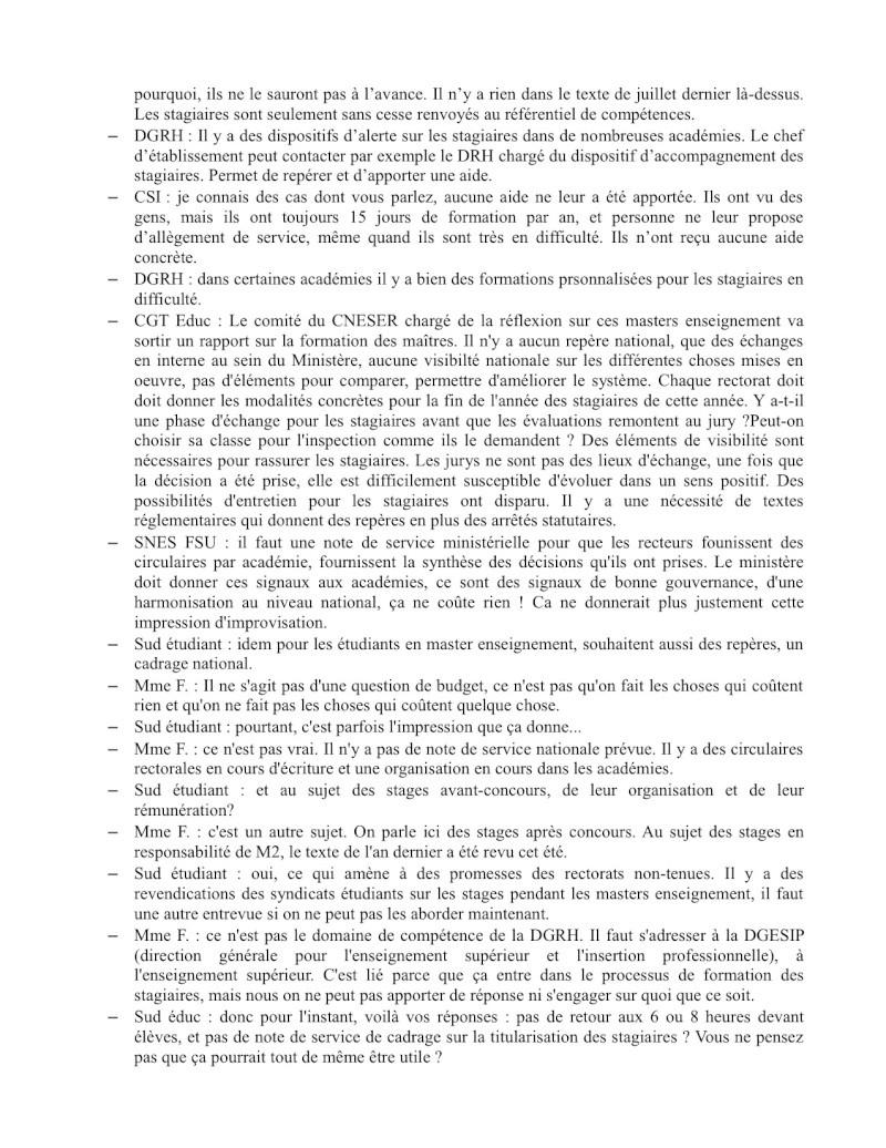 (C.R.) Rencontre 15 février STAGIAIRE IMPOSSIBLE & INTERSYNDCIALE au ministère Rencon12