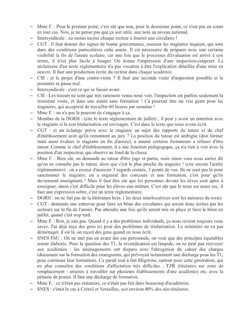 (C.R.) Rencontre 15 février STAGIAIRE IMPOSSIBLE & INTERSYNDCIALE au ministère Rencon13