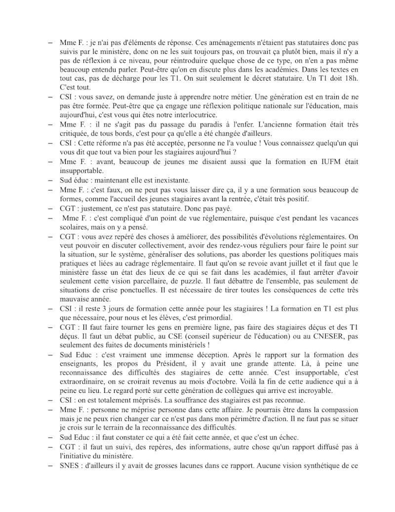 (C.R.) Rencontre 15 février STAGIAIRE IMPOSSIBLE & INTERSYNDCIALE au ministère Rencon14