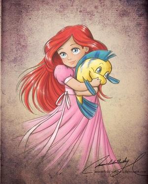 Les Disney Princesses (+ Elsa et Anna) [Topic Unique] Ariel10