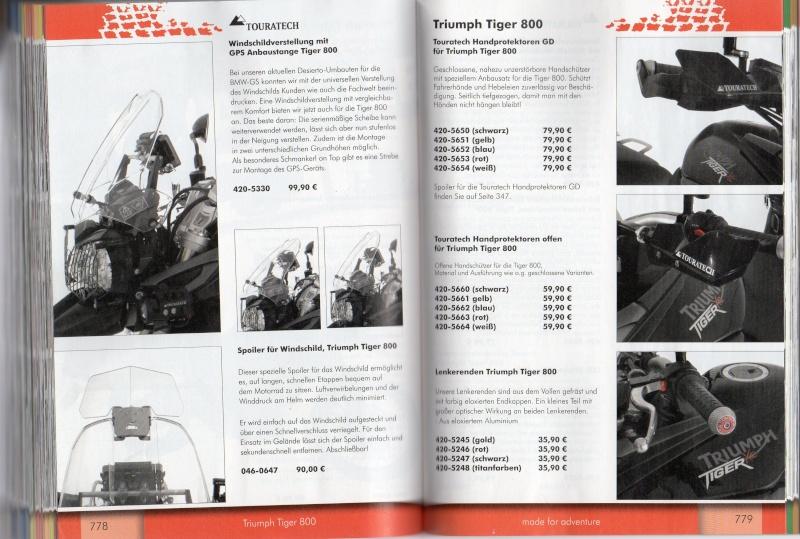 TRIUMPH Tiger 800 et 800XC Accessoires TOURATECH Page210