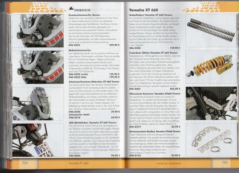 YAMAHA XT660 Z Ténéré Accessoires TOURATECH Page212