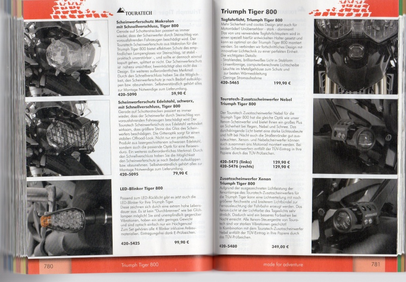 TRIUMPH Tiger 800 et 800XC Accessoires TOURATECH Page310