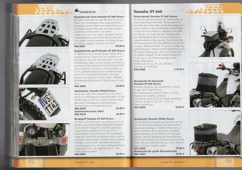 YAMAHA XT660 Z Ténéré Accessoires TOURATECH Page611
