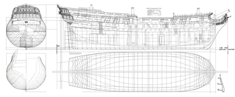 HMS Cumberland 1774, 1:36  Ndddnd10