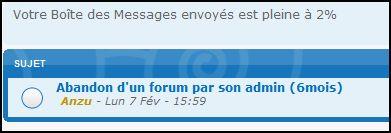 A qui dois-je m'adresser pour un forum abandonné par son admin ? Fofo10