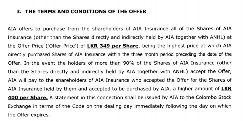 AIA makes Rs. 927 m voluntary offer for remaining 7.7% stake in CTCE Ctce310