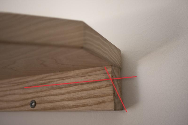 [Fabrication] Une modeste étagère en pignon. Aspect10