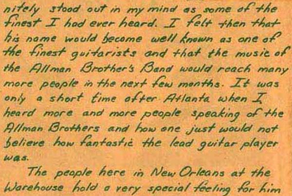 The Allman Brothers Band - Presse non Francophone Inyour14