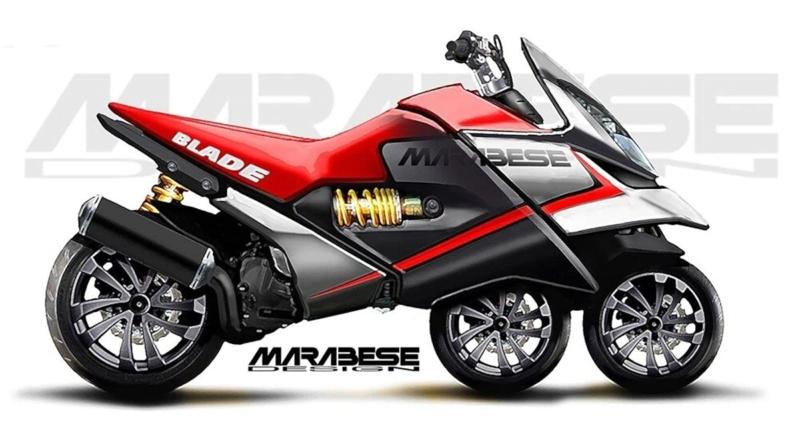 Blade Bike, le scooter à 3 roues en ligne de Marabese S0-bla10