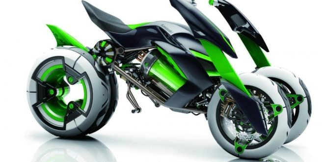 Une moto à quatre roues à court terme chez Kawasaki Une-mo10