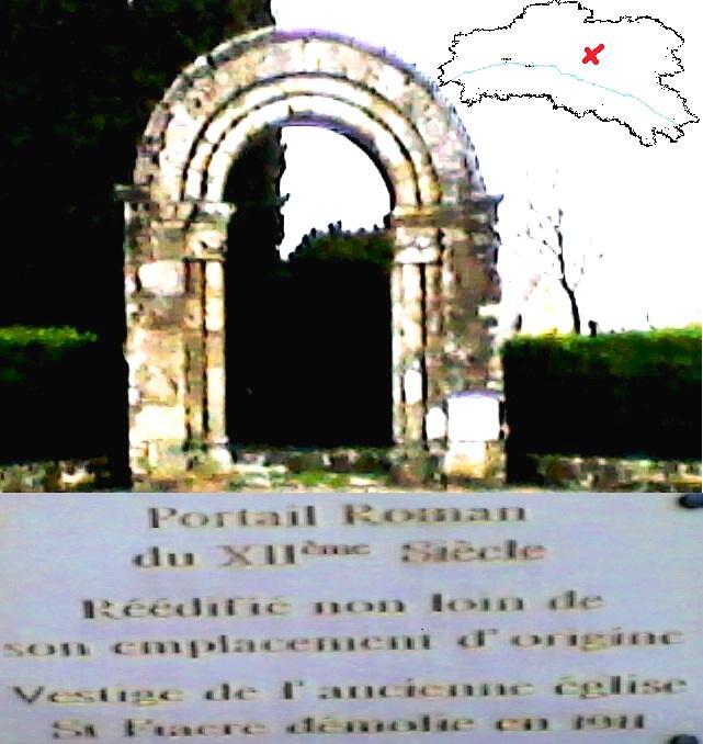 Ruine de l'église Romane du 12eme siècles à Coudroy F110