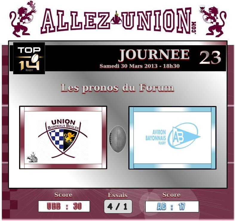 PRONO 2012 / 2013 (J23)  UBB - AB J2310