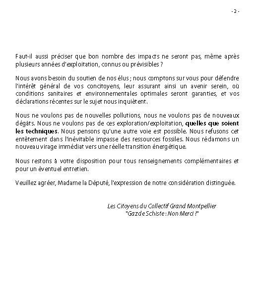 Courrier du Collectif à la Député 34 Le Dain + polémique CESER LR Coll3411