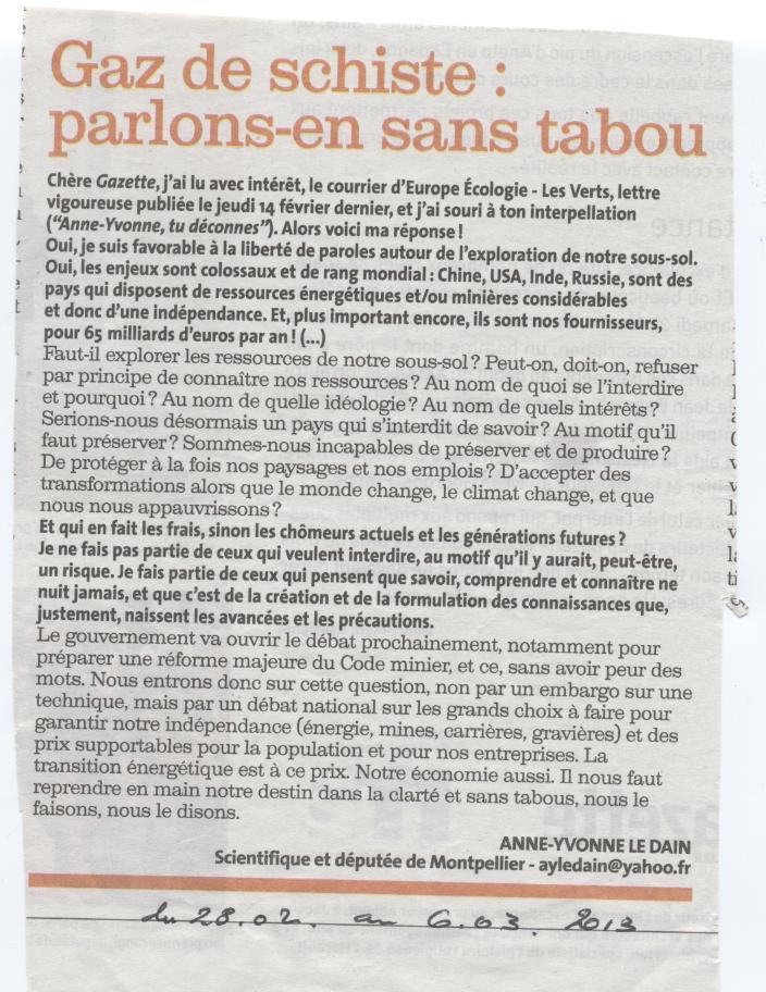 Courrier du Collectif à la Député 34 Le Dain + polémique CESER LR Gazett10