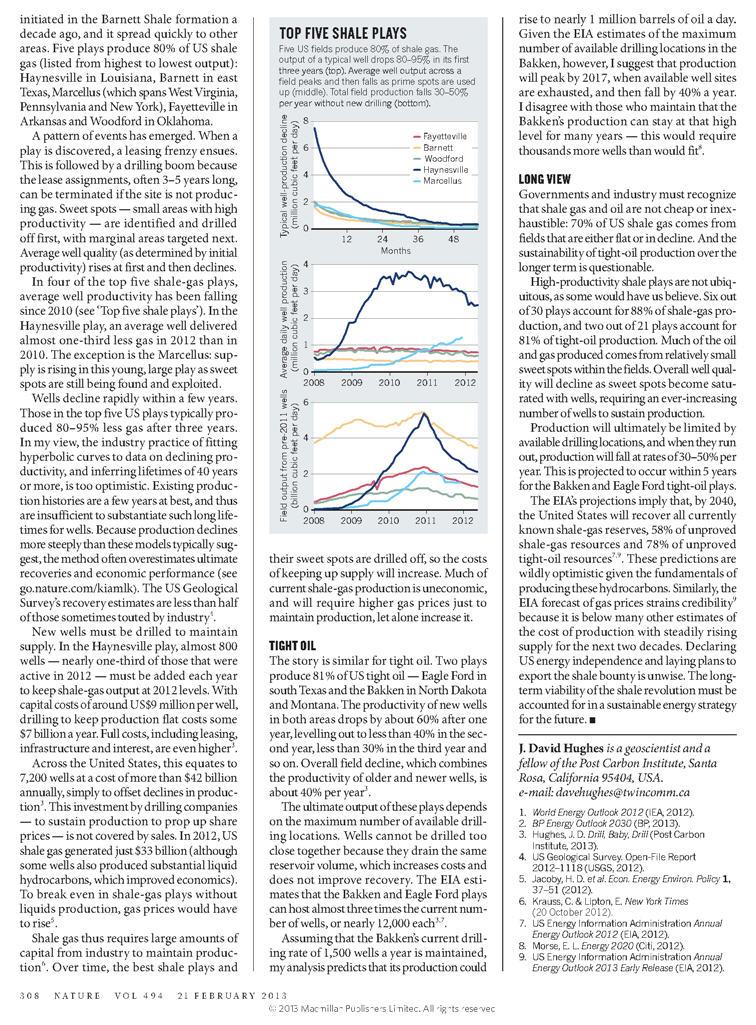 Spéculation : la bulle de gaz Nature11