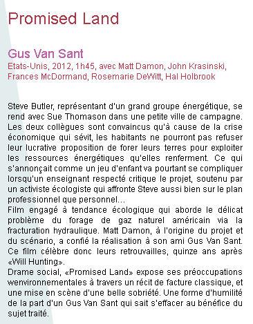 Promised Land : 17 avril 2013 projection-débat Pl140410