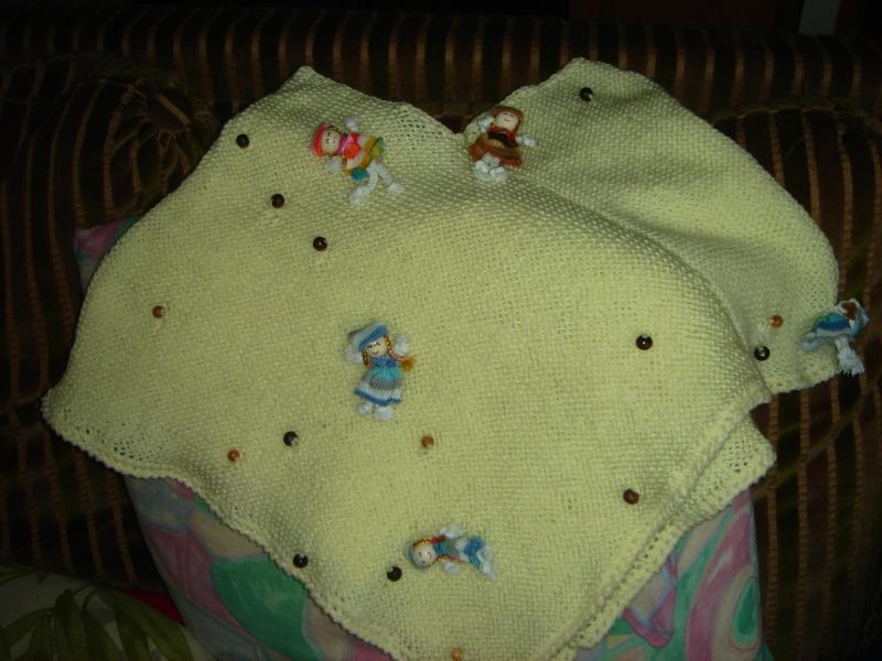 mon poncho avec la laine poupee 00411