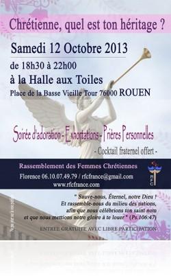 Rassemblement de Femmes chrétiennes à ROUEN le 12 Octobre 2013 Affev610