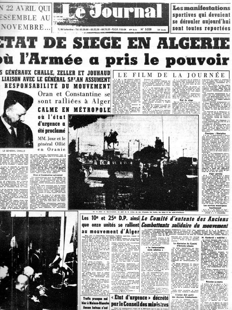 """ALGERIE PRESSE  1961 """"spécial PUTSCH""""  1ère partie 145"""