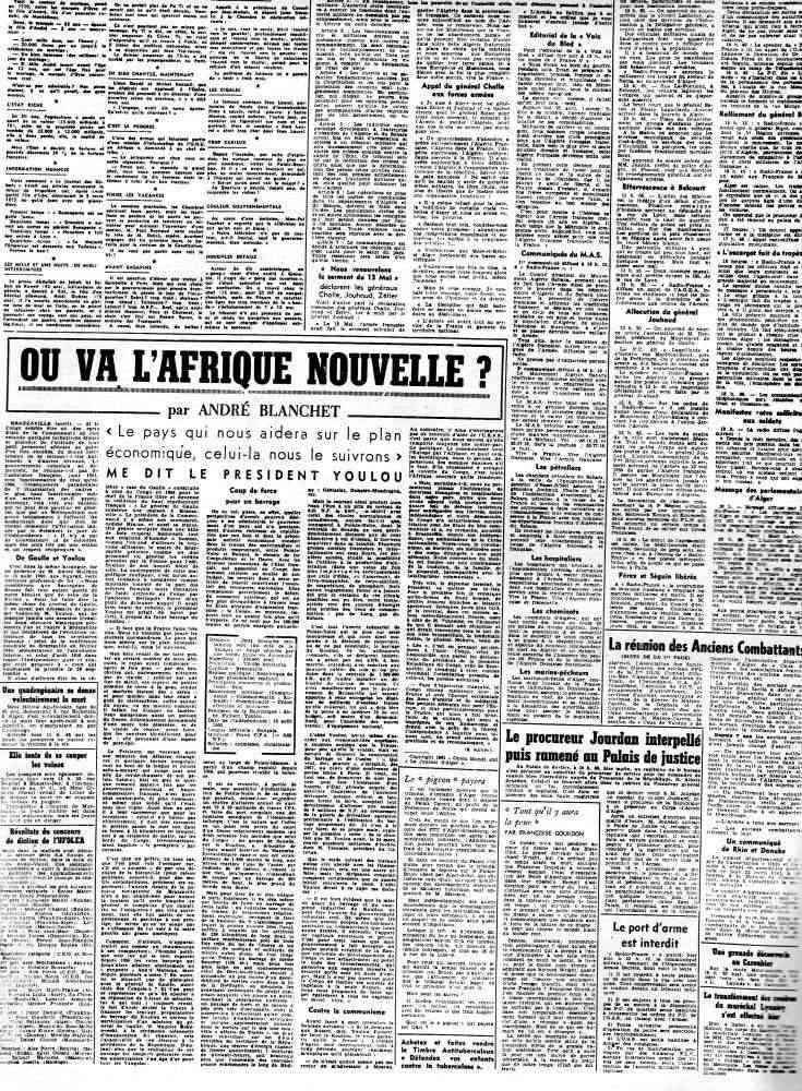 """ALGERIE PRESSE  1961 """"spécial PUTSCH""""  1ère partie 232"""