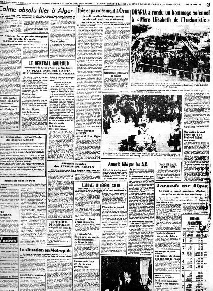 """ALGERIE PRESSE  1961 """"spécial PUTSCH""""  1ère partie 233"""