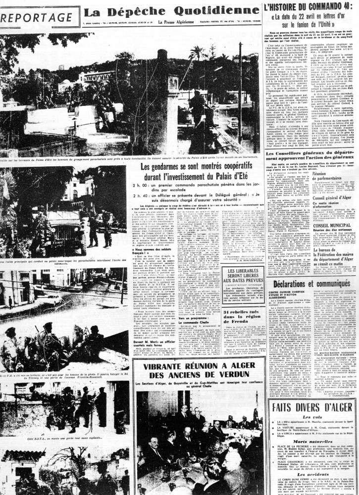 """ALGERIE PRESSE  1961 """"spécial PUTSCH""""  1ère partie 322"""