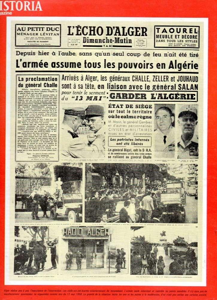 """ALGERIE PRESSE  1961 """"spécial PUTSCH""""  1ère partie 616"""