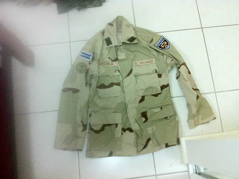 Patches of El Salvador contingent in Iraq Ipone_13